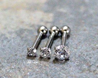 Swarovski Crystal Triple Helix Cartilage by Purityjewel on Etsy