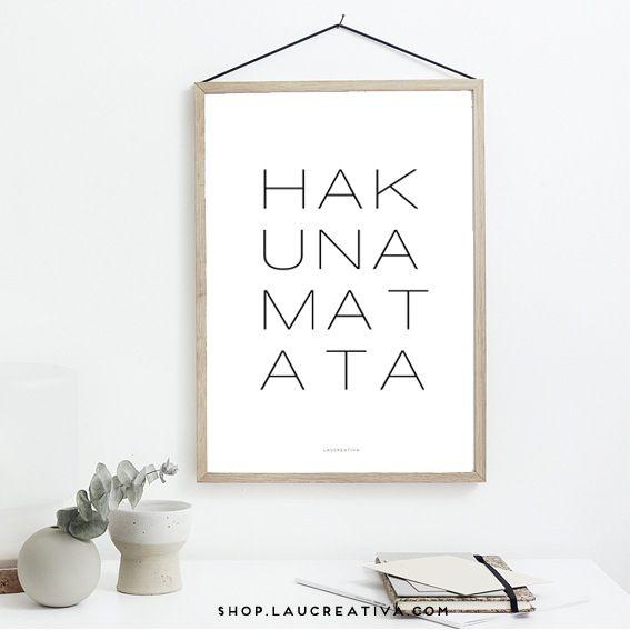 Image of Lámina ·Hakunamatata·