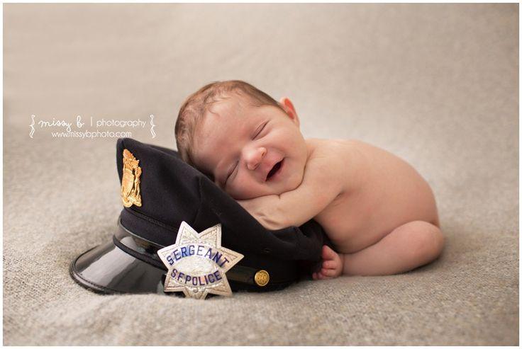 Newborn Baby Girl | Police Hat, Walnut Creek, CA Newborn Photo Session - Missy B Photography www.missybphoto.com