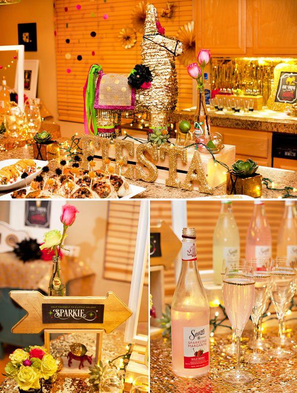 Gold & Glitzy Holiday Fiesta {Olé!}