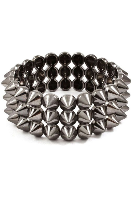 New Spiked Bracelets Fashion Urban Spike Stretch Womens Girls Punk Jewelry Trend | eBay
