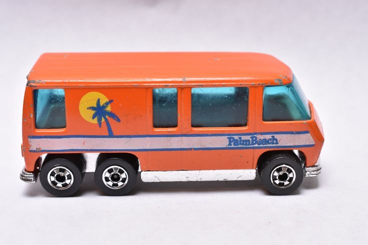 Vintage Hot Wheels Flying Colors GMC Motor Home, Palm Beach, Orange, 1976, Hong Kong, Die-cast Toy Car Collection by RememberWhenToys on Etsy