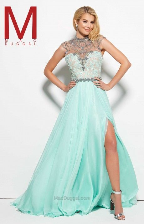 So sweet, and how easy it is to see why! Mac Duggal 10079M is flawless, with effortless details through the bust and skirt.