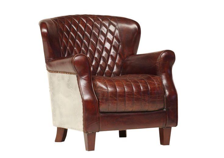 Super bequemer Sessel aus echtem Leder.      Material: 5289 echtes Leder     Gestell: Holz, Alu verkleidet     Maße: B 76 x H 84 x T 80 cm     Sitzhöhe: 46 cm  #moebeltraume #moebelpower #sessel #vintage #braun #leder #stilvollwohnen