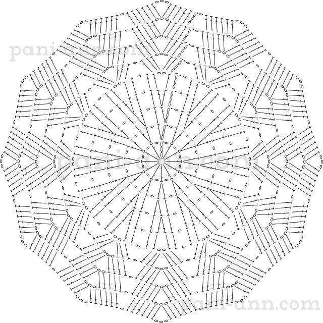 stand cup hook Stella scheme. Crochet diagram.