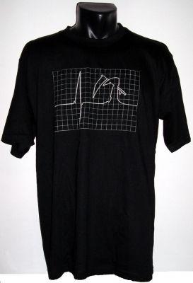 Tričko s fosforeskujícím potiskem - EKG
