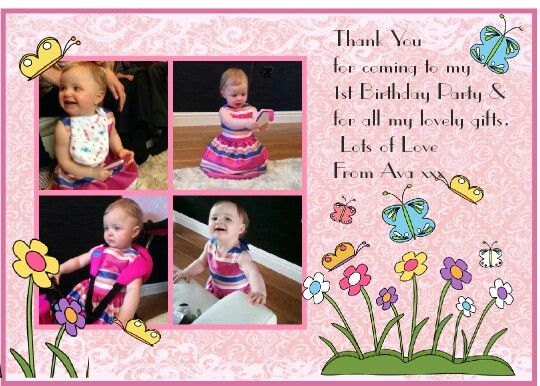 Thank you card ...Jan's Charmed Cards and Crafts .Facebook