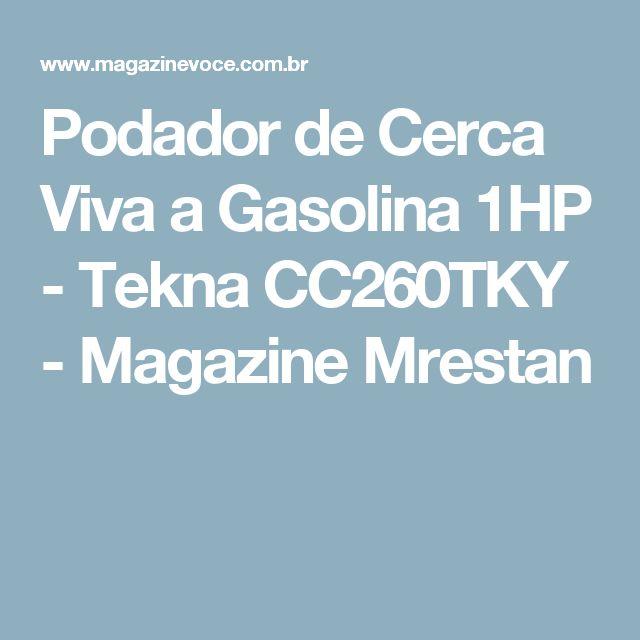 Podador de Cerca Viva a Gasolina 1HP - Tekna CC260TKY - Magazine Mrestan