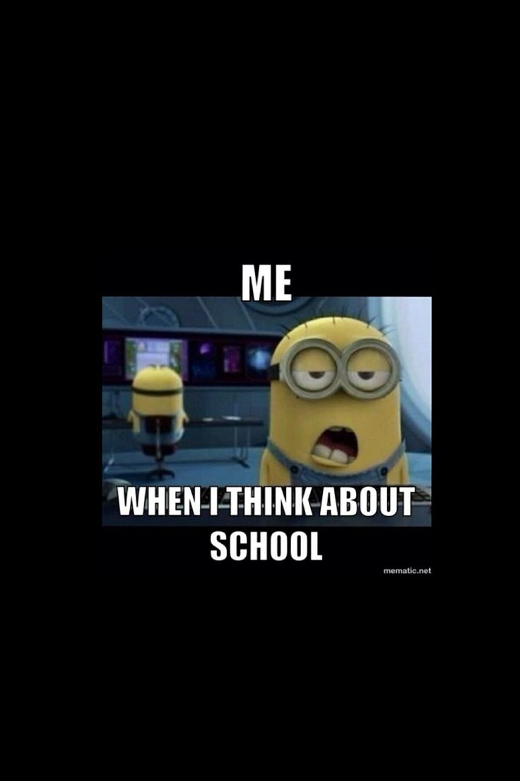 This is what I look like when I am in school