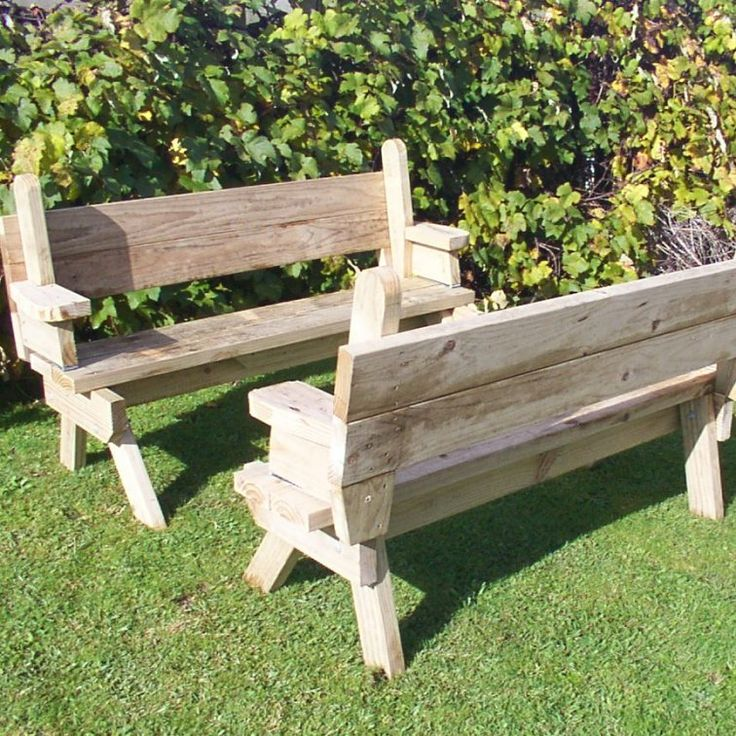 How to build a 2 piece folding picnic table