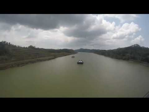 From Gatun Locks across Gantu Lake to Pedro Miguel Locks Time Lapse