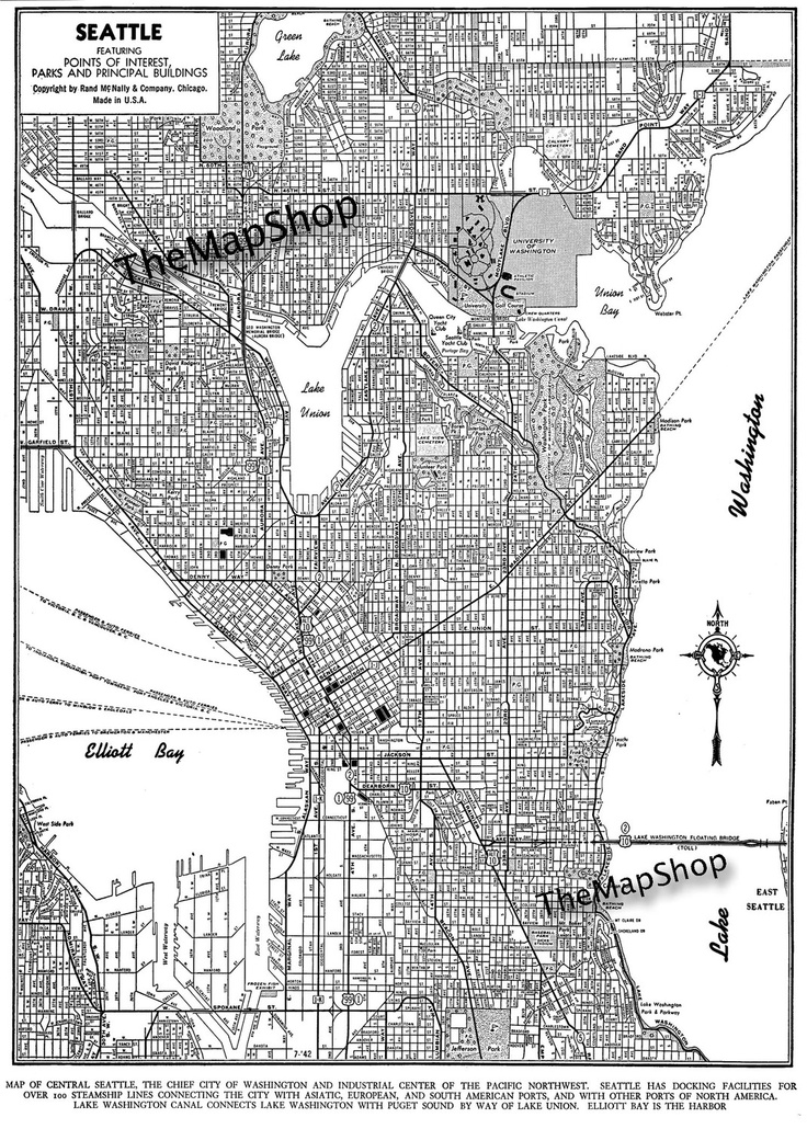 19 best Seattle Maps images on Pinterest Maps Cards and Seattle map