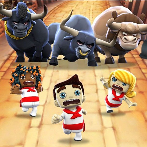 @apppipes photo: Leave your friends—and raging bulls—in the dust in Zyngas free Running with Friends. #appstore