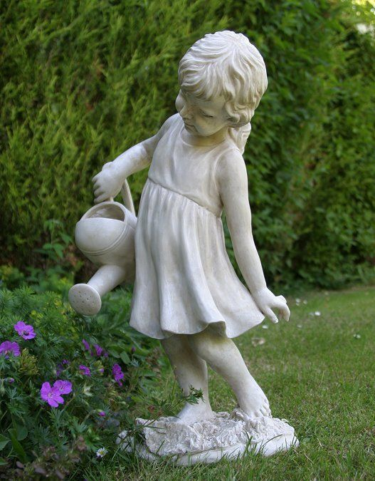 Garden Statues And Ornaments | Girl Figure Garden Statue - Watering The Garden Ornament