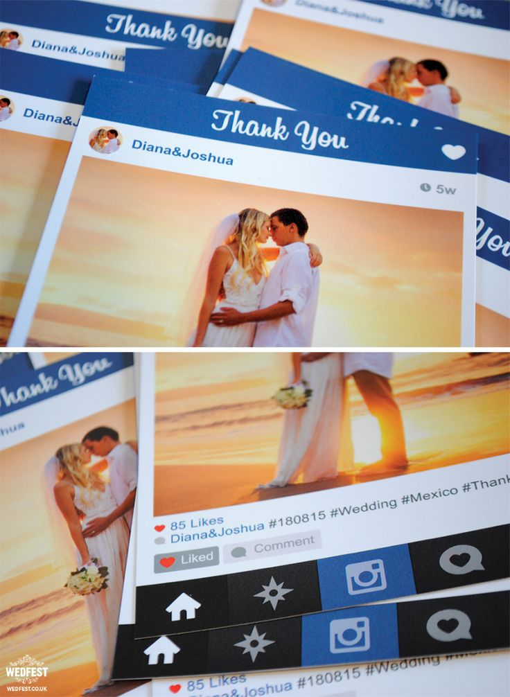 free online printable wedding thank you cards%0A instagram style thank you cards http   www wedfest co instagram