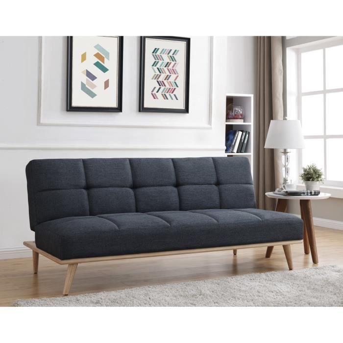 Zara Canape Clic Clac Scandinave 3 Places L182x83x81 Cm Tissu Couleur Gris Fonce Canape Architecte Interieur Mobilier De Salon