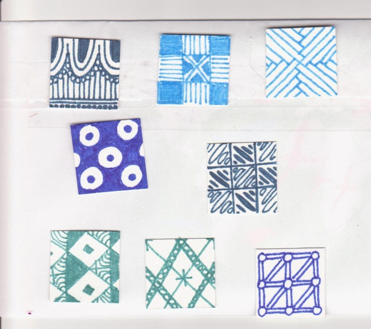 blue inchies: Inchie Inspiration, Inchies Inspiration, Blue Inchies, Art Journaling