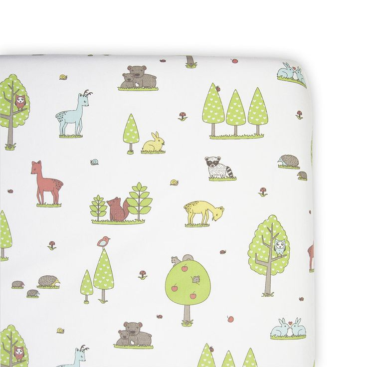 Weegoamigo Cot Fitted Sheet - Forest Friends