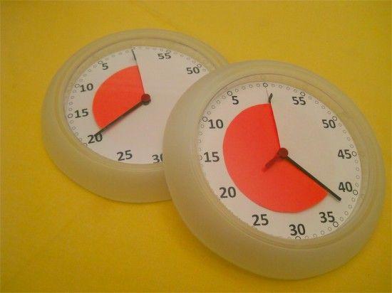 Maak je eigen time timer van een ikea-klok van 2 euro!!