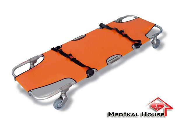 tekerlekli katlanır sedye katlanabilir transfer sedyesi