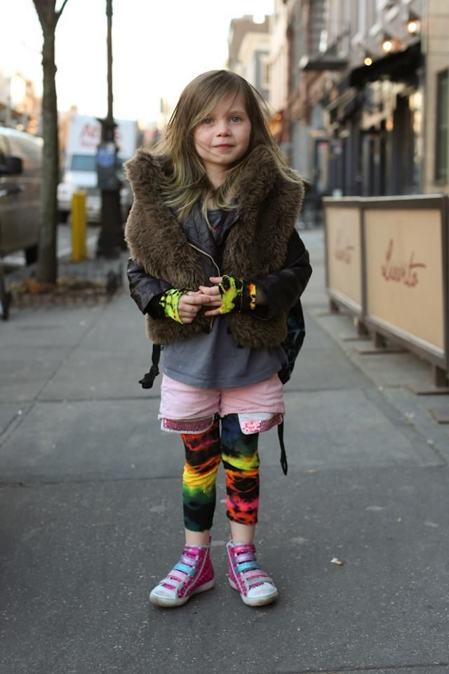 Humans of New York as soon as she got her pants she cut off the bottoms and made gloves out of them