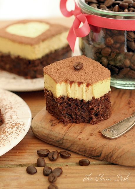 Grain-free Tiramisu Double Chocolate Brownies - Gluten-free + Refined Sugar-free