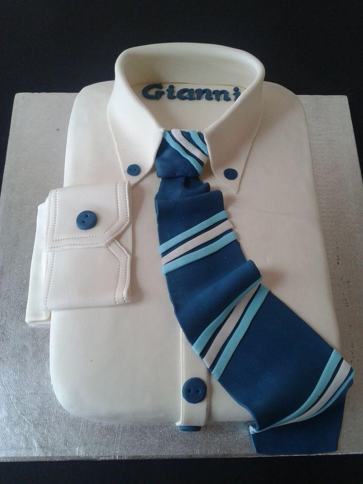 Come realizzare una Torta camicia,Cake Decorating White Collar Pride Cake