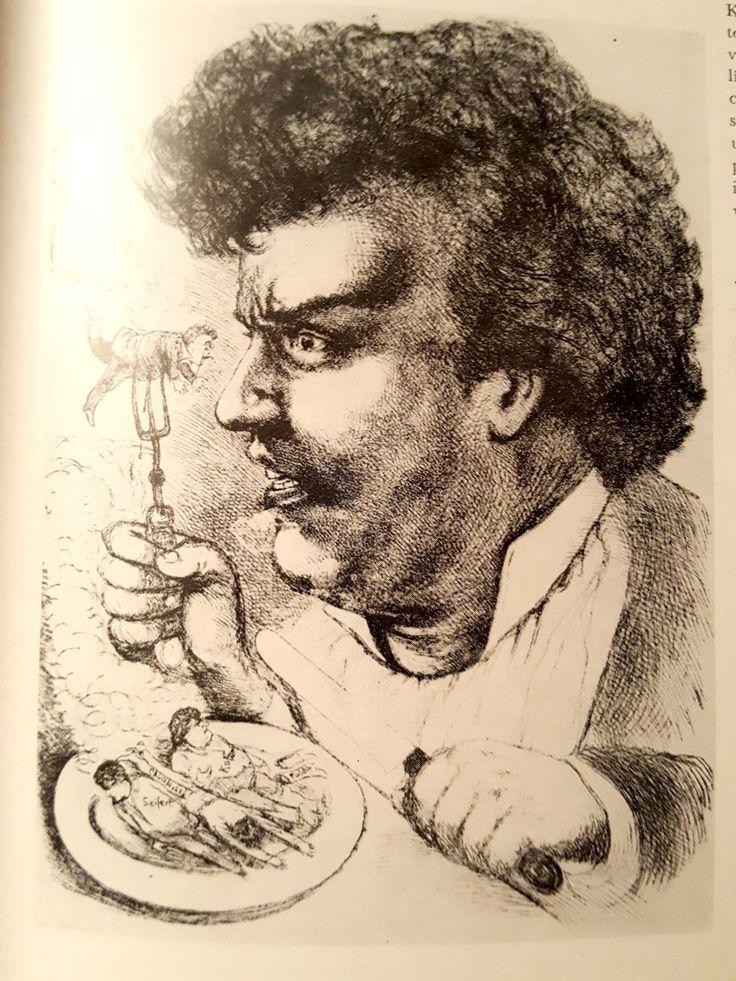 Director Josef Šmaha caricature czech republic 80.-90. of 19.century