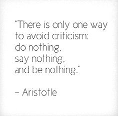 And probably not even then! ;-)  Aristotle #quote