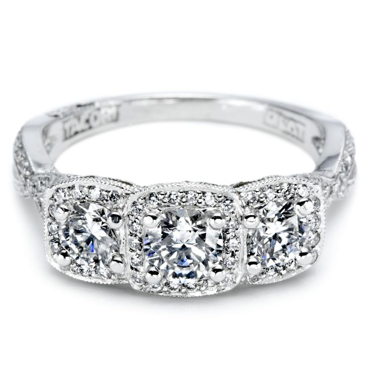 Unique Diamond Anniversary Rings | View some examples of different three stone diamond rings below: