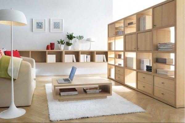 muebles y parquet madera clara