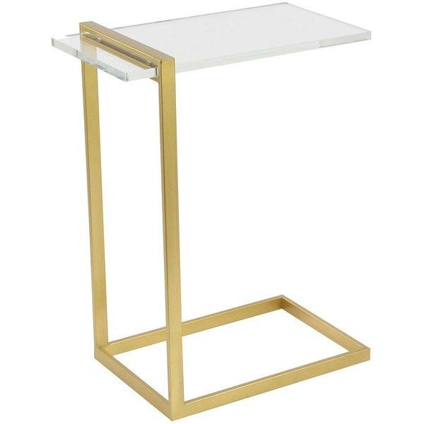Uma Gold Metal Acrylic Accent Table 325 Sar Liked On