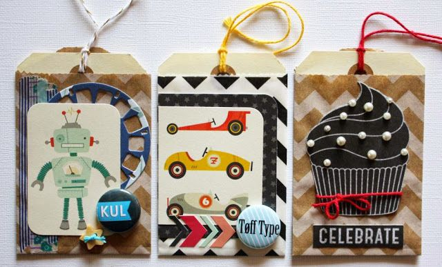 Andrine og Marens Landhandleri - Blog - Mini Paperbag cards created by Dt Stine.