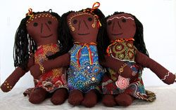 ndigenous - Aboriginal Dolls, Elders, Warrior, Girl or Torres Strait women $49.95 Australian MadeHand Made These delightful Aboriginal Dolls are made in Australian by Indigenous women, each stands around 23 cm high and is soft and cuddly for little hands. As each doll is hand made they do vary in dress colour and style.