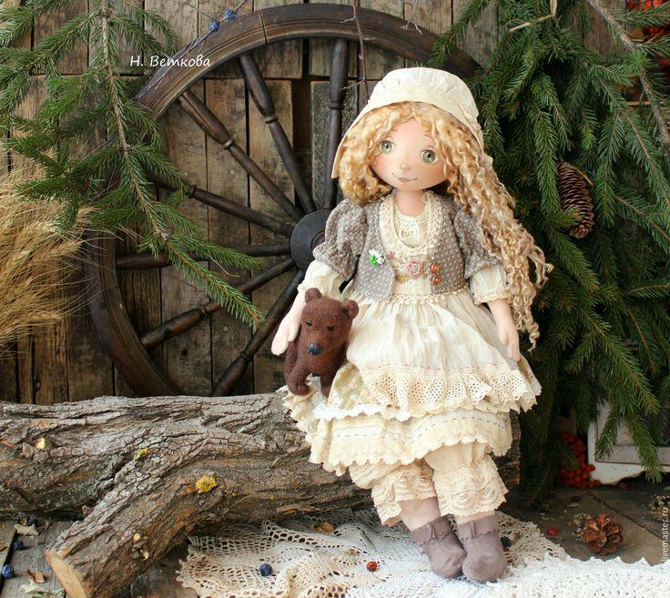 Купить Чудесная Весняночка интерьерная текстильная коллекционная кукла…
