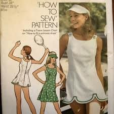 vintage tennis dress,  I made this dress and I still may have the pattern!