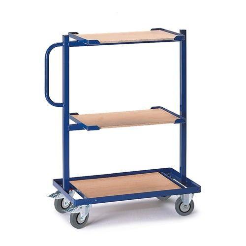 GTARDO.DE:  Beistellwagen fest, Tragkraft 200 kg, Holz, Ladefläche 620x410 mm, Maße 950x420 mm, Rad-Ø 125 mm 214,00 €
