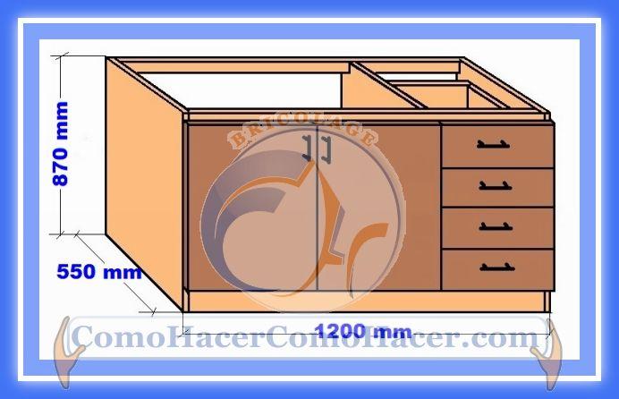 Web del bricolaje dise o diy muebles cocina plano mueble for Construccion de muebles de madera pdf