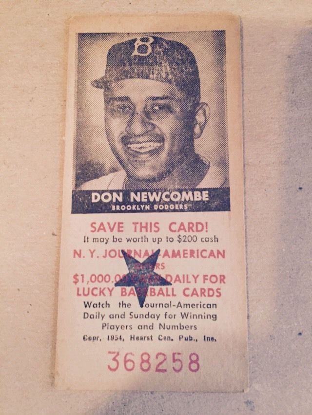 1954 brooklyn dodgers baseball schedule don newcombe n.y. journal american from $9.99