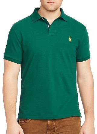 Polo Ralph Lauren Custom Fit Mesh Polo - Slim Fit