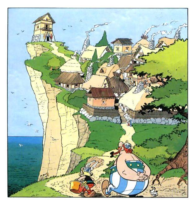 comic panel from 'Astérix et le Chaudron' by René Goscinny and Albert Uderzo (1969)