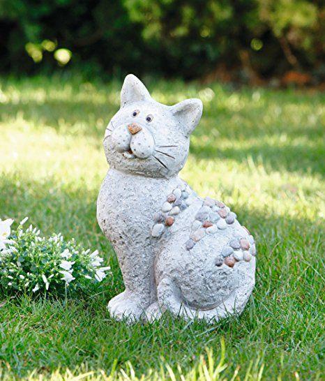Deko Figur Stein Katze Garten Ideen Gestaltung Garten Deko
