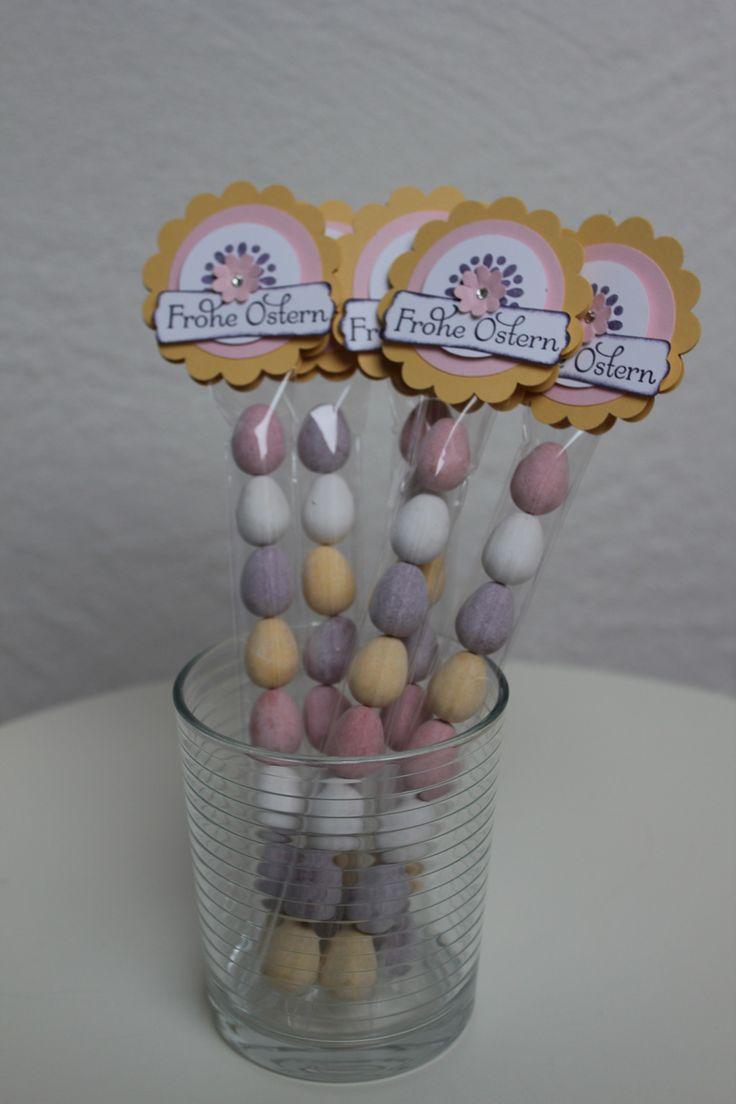 Kleine Geschenke zu Ostern, Ostereier schön verpackt, Bild 2, gebastelt mit Produkten, Stempeln und Stanzen von Stampin' Up!