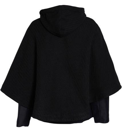 Manteau SESSUN Chromakey, manches longues, col cheminée, fermeture par zip et lacet, cape amovible avec poche DOS