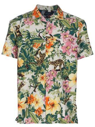 Paul Smith Jeans Hawaiian print shirt