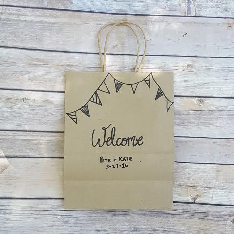 Custom Gift Bags Wedding Welcome Bags Welcome Gift Bags Kraft Bags With Handles Hand Lettered Personalized by ThePeculiarPelican #etsyseller #etsyshop #woodensigns #customsigns #shopsmall #shopping #gifts #giftideas #porchsigns #weddingsigns #southernsigns #quotes #handmade #handpainted #signs http://ift.tt/2agQLbV