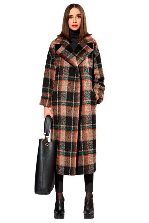 Мода осень 2016. Пальто в клетку COME PRIMA