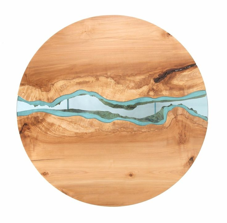 Wood Tables Embedded with Glass Rivers by Greg Klassen09
