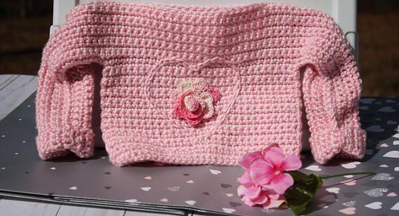 Crochet Pink Baby Sweater  Baby Girl Sweater  Heart Baby #babygirlsweaters