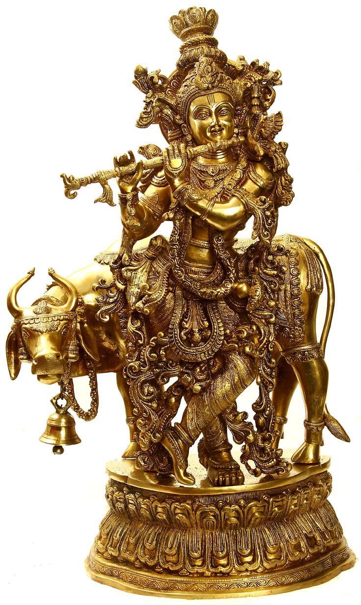 lord krishna idol in Brass